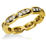 Eternity-ring i guld med runde, brillantslebne diamanter (ca 0.54ct)