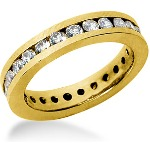 Eternity-ring i guld med runde, brillantslebne diamanter (ca 1.25ct)