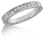 Nistens alliancering i platin med  diamanter (0.18ct)