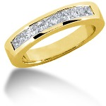 Nistens alliancering i guld med  diamanter (0.63ct)