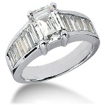 Sidestensring i palladium med 13st diamanter (2.98ct)