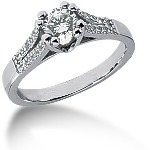 Sidestensring i palladium med 21st diamanter (0.7ct)