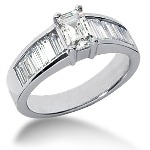 Sidestensring i palladium med 13st diamanter (1.54ct)