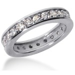 Eternity-ring i platin med runde, brillantslebne diamanter (ca 1.2ct)