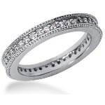 Eternity-ring i platin med runde, brillantslebne diamanter (ca 0.39ct)