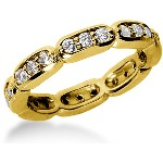 Eternity-ring i guld med runde, brillantslebne diamanter (ca 0.72ct)