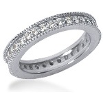 Eternity-ring i platin med runde, brillantslebne diamanter (ca 0.64ct)