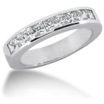 Nistens alliancering i platin med  diamanter (0.9ct)