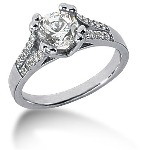 Sidestensring i palladium med 21st diamanter (0.95ct)