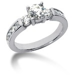 Sidestensring i palladium med 13st diamanter (1.4ct)