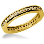 Eternity-ring i guld med runde, brillantslebne diamanter (ca 0.42ct)