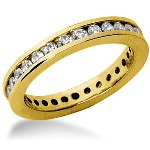 Eternity-ring i guld med runde, brillantslebne diamanter (ca 0.84ct)