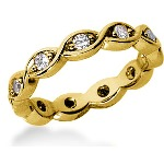 Eternity-ring i guld med runde, brillantslebne diamanter (ca 0.44ct)