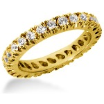 Eternity-ring i guld med runde, brillantslebne diamanter (ca 1.3ct)