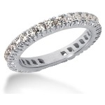Eternity-ring i platin med runde, brillantslebne diamanter (ca 0.9ct)