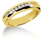 Nistens alliancering i guld med  diamanter (0.18ct)