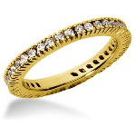 Eternity-ring i guld med runde, brillantslebne diamanter (ca 0.57ct)