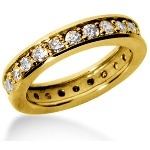 Eternity-ring i guld med runde, brillantslebne diamanter (ca 1.2ct)