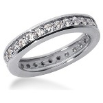 Eternity-ring i platin med runde, brillantslebne diamanter (ca 0.87ct)
