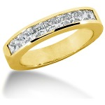 Nistens alliancering i guld med  diamanter (0.9ct)