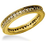 Eternity-ring i guld med runde, brillantslebne diamanter (ca 0.39ct)