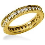 Eternity-ring i guld med runde, brillantslebne diamanter (ca 0.64ct)
