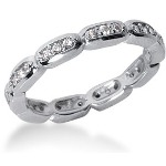 Eternity-ring i platin med runde, brillantslebne diamanter (ca 0.3ct)