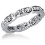 Eternity-ring i platin med runde, brillantslebne diamanter (ca 0.72ct)