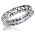 Eternity-ring i platin med runde, brillantslebne diamanter (ca 1.25ct)