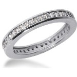 Eternity-ring i platin med runde, brillantslebne diamanter (ca 0.42ct)