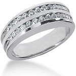 Vielse & Forlovelsesring i palladium med 26st diamanter (0.52ct)  Stl 54 / 17,2 mm
